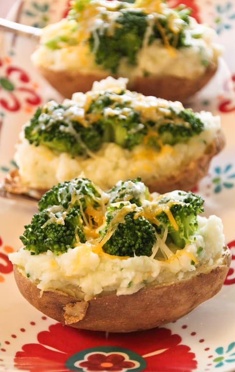 Twice Baked Potatoes with Broccoli and Cheese - The Picky Eater
