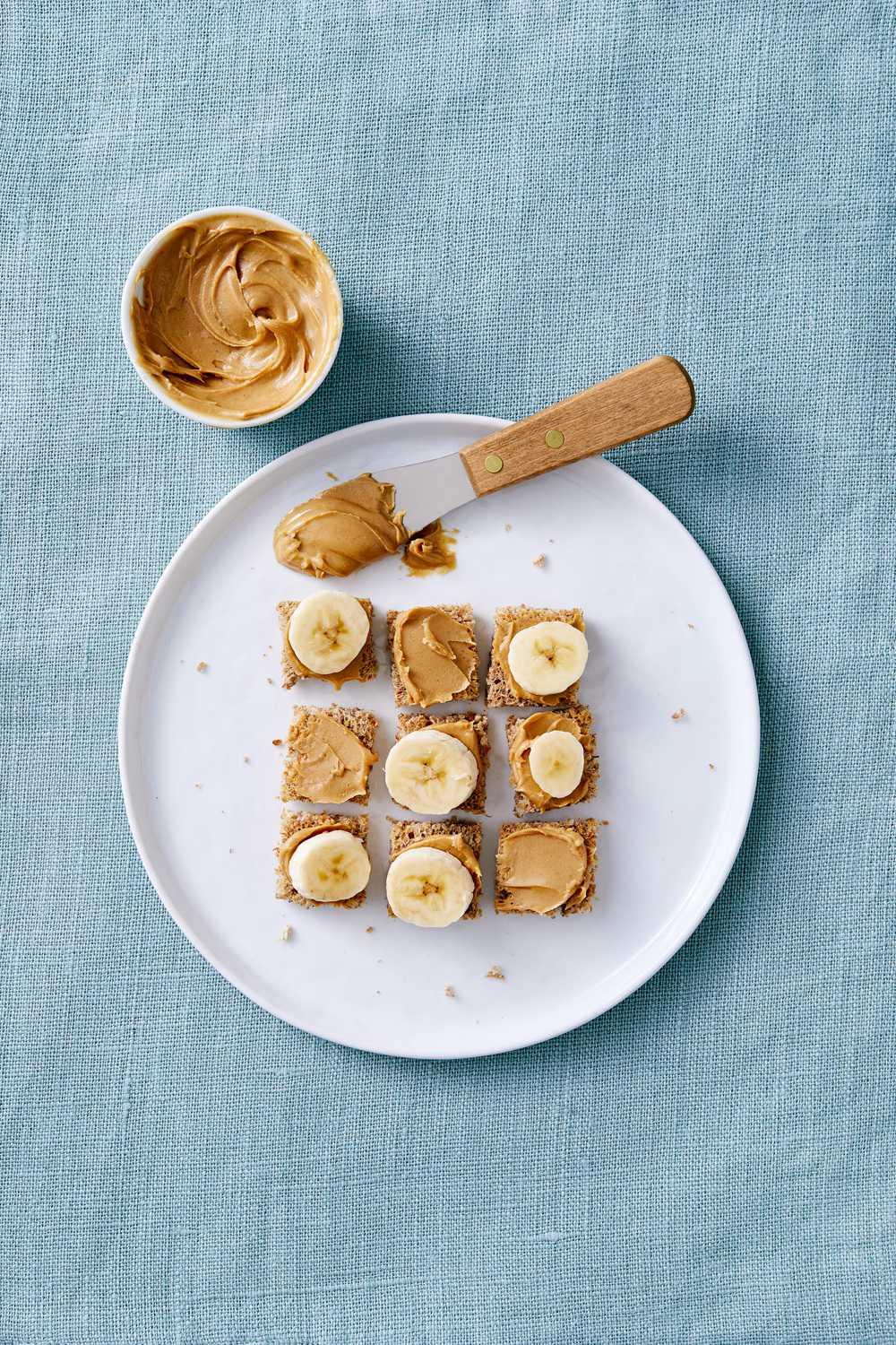 nut butter and banana stackers toddler meal