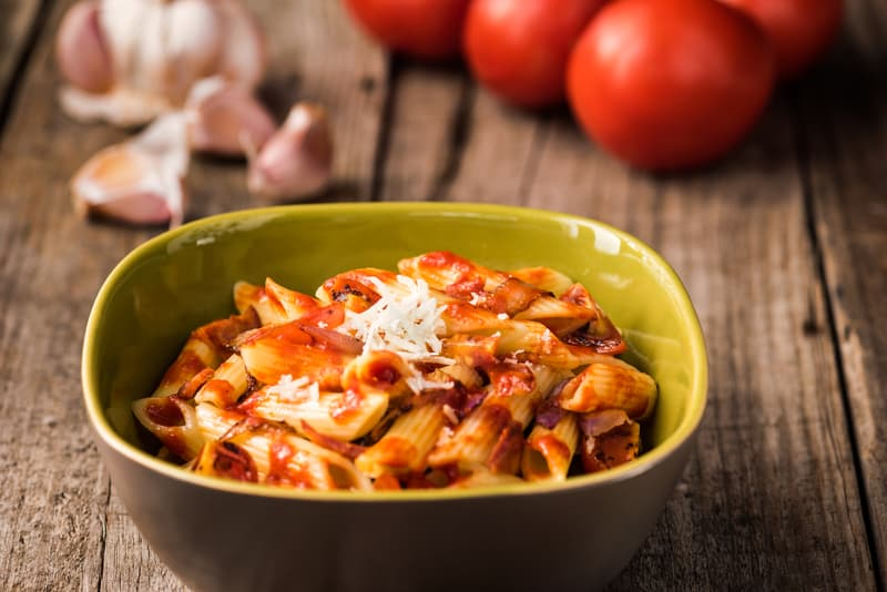 protein packed lentil pasta with superfood marinara sauce